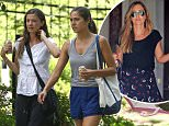Picture Shows: Nannies  August 08, 2015\n \n Two newly-hired nannies join Violet and Seraphina Affleck as they take their new Golden Retriever puppy for a walk in Atlanta, Georgia.\n \n Exclusive All Rounder\n UK RIGHTS ONLY\n FameFlynet UK � 2015\n Tel : +44 (0)20 3551 5049\n Email : info@fameflynet.uk.com