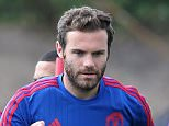 MANCHESTER, ENGLAND - AUGUST 05:  (EXCLUSIVE COVERAGE) Juan Mata of Manchester United in action during a first team training session at Aon Training Complex on August 5, 2015 in Manchester, England.  (Photo by Matthew Peters/Man Utd via Getty Images)