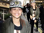 Mandatory Credit: Photo by Stephen Coke/REX Shutterstock (4937699d)  Zendaya  Zendaya out and about, London, Britain - 10 Aug 2015