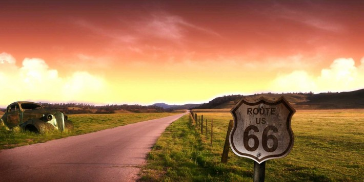 Route 66 near Braidwood, Illinois