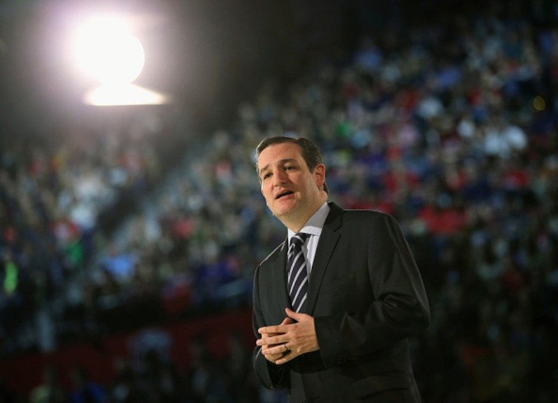 Texas Senator Ted Cruz announces he is running for president in 2016 in a speech at Liberty University where he asked voters to imagine a Cruz presidency, March 23, 2015