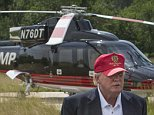 STERLING, VA- JUNE 23: Donald Trump walks past his helicopter at  the opening of his championship golf course  in Sterling, VA. June 23, 2015,  (Photo by Jeffrey MacMillan for The Washington Post via Getty Images.)