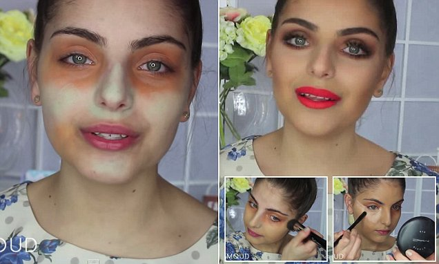 Heidi Hamoud shares YouTube make up tutorial on using green and orange concealer