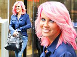 EXCLUSIVE: Jenny McCarthy spotted with new short pink hair with matching pink shoes while leaving the SiriusXm Radio in New York City\n\nPictured: Jenny McCarthy\nRef: SPL1099477  110815   EXCLUSIVE\nPicture by: Felipe Ramales / Splash News\n\nSplash News and Pictures\nLos Angeles: 310-821-2666\nNew York: 212-619-2666\nLondon: 870-934-2666\nphotodesk@splashnews.com\n