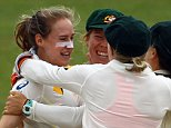 Australia congratulate Ellyse  Perry (second from left) after taking the wicket of England's Sarah Taylor during day two of the Women's Ashes Test at The Spitfire Ground, Canterbury. PRESS ASSOCIATION Photo. Picture date: Wednesday August 12, 2015. See PA story CRICKET England Women. Photo credit should read: Gareth Fuller/PA Wire. RESTRICTIONS: Editorial use only. No commercial use without prior written consent of the ECB. Still image use only no moving images to emulate broadcast. No removing or obscuring of sponsor logos. Call +44 (0)1158 447447 for further information