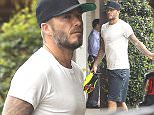 Brentwood, CA - International soccer star David Beckham stopped in at health store Earth Bar on Tuesday morning after enduring another grueling workout at his favorite Brentwood SoulCycle studio.\n \n AKM-GSI          August 11, 2015\nTo License These Photos, Please Contact :\nSteve Ginsburg\n(310) 505-8447\n(323) 423-9397\nsteve@akmgsi.com\nsales@akmgsi.com\nor\nMaria Buda\n(917) 242-1505\nmbuda@akmgsi.com\nginsburgspalyinc@gmail.com