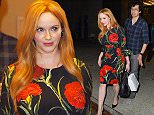 Mandatory Credit: Photo by Buzz Foto/REX Shutterstock (4938844e)\n Christina Hendricks and husband Geoffrey Arend\n 'Watch What Happens Live' TV show, New York, America - 11 Aug 2015\n \n