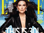 Keira Knightley Elle Magazine September 2015 - on newsstands nationwide August 18. STYLED BY SAMIRA NASR -Keira Knightley wears a leather jacket and calfskin belt from Ralph Lauren Collection, stretch-polyamide swim bottoms from Rochelle Sara, rose gold and diamond earrings from Pomellato, silver-plated brass cuffs from Jennifer Fisher, and a silver cuff from Saskia Diez.  PLEASE LINK BACK: http://www.elle.com/fashion/a29679/keira-knightley-elle-2015/