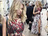 LONDON, UNITED KINGDOM - AUGUST 12:  (EXCLUSIVE COVERAGE) Victoria's Secret model Stella Maxwell seen leaving the Victoria's Secret store on New Bond Street on August 12, 2015 in London, England. (Photo by Neil Mockford/Alex Huckle/GC Images)