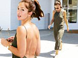 West Hollywood, CA - 'Friday Night Lights' beauty Minka Kelly stopped in at the WeHo Zimmerman store on Tuesday afternoon, returning a few pieces that apparently didn't work out. The sexy brunette showed a little skin wearing an olive green backless romper, and her hair in an adorable half-up, half-down style.\n \n AKM-GSI          August 11, 2015\nTo License These Photos, Please Contact :\nSteve Ginsburg\n(310) 505-8447\n(323) 423-9397\nsteve@akmgsi.com\nsales@akmgsi.com\nor\nMaria Buda\n(917) 242-1505\nmbuda@akmgsi.com\nginsburgspalyinc@gmail.com