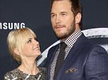 Mandatory Credit: Photo by Matt Baron/BEI/REX Shutterstock (4836367y).. Anna Faris and Chris Pratt.. 'Jurassic World' film premiere, Los Angeles, America - 09 Jun 2015.. ..