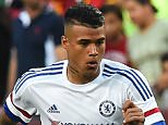 Chelsea's Kenedy moves the ball during an International Champions Cup football match against Barcelona in Landover, Maryland, on July 28, 2015.    AFP PHOTO/NICHOLAS KAMM        (Photo credit should read NICHOLAS KAMM/AFP/Getty Images)