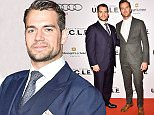 """TORONTO, ON - AUGUST 11: (L-R) Henry Cavill and Armie Hammer attend Warner Bros. Pictures Canada and Audi Canada host a private cocktail reception for the Canadian premiere of """"The Man From U.N.C.L.E."""" at Shangri-La Hotel on August 11, 2015 in Toronto, Canada.  (Photo by George Pimentel/WireImage)"""