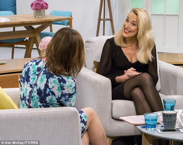 Let's talk: Jerry Hall chatted about her Christmas plans with ex-husband Sir Mick on ITV breakfast show Lorraine late last year, saying they were helping him through a 'rough time'