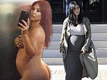 Picture Shows: Kim Kardashian  August 10, 2015    Pregnant Kim Kardashian spotted out shopping at Barneys New York in Beverly Hills, California. The reality star was showing off her baby bump in a form fitting ensemble.    Non Exclusive  UK RIGHTS ONLY    Pictures by : FameFlynet UK © 2015  Tel : +44 (0)20 3551 5049  Email : info@fameflynet.uk.com