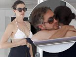 Us actress Anne Hathaway and husband Adam Shulman greeting from yacht during vacation in Ibiza  Pictured: Anne Hathaway  Ref: SPL1101526  130815   Picture by: Splash News  Splash News and Pictures Los Angeles: 310-821-2666 New York: 212-619-2666 London: 870-934-2666 photodesk@splashnews.com