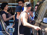 Victoria Beckham and son Brooklyn join David Beckham at his routine Soulcycle class in Brentwood. Brooklyn grabs juice for his folks afterward. Thursday, August 13, 2015 X17online.com