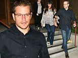 Matt Damon exits from Baltaire restaurant with his wife in Brentwood\n\nPictured: Matt Damon,Lucian Barroso\nRef: SPL1100355  110815  \nPicture by: MONEY$HOT / Splash News\n\nSplash News and Pictures\nLos Angeles: 310-821-2666\nNew York: 212-619-2666\nLondon: 870-934-2666\nphotodesk@splashnews.com\n