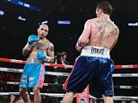 NEW YORK, NY - JUNE 06:  Miguel Cotto and Miguel Cotto exchange punches at Roc Nation Sports WBC middleweight world championship fight at Barclays Center on June 6, 2015 in the Brooklyn borough of New York City.  (Photo by Jerritt Clark/WireImage)