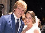 SEVILLE, SPAIN - JUNE 20:  Barcelona fooball player Ivan Rakitic and Raquel Mauri get married at Sevilla cathedral on June 20, 2015 in Seville, Spain.  (Photo by Europa Press/Europa Press via Getty Images)