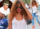 Rihanna was spotted out in NYC early Wednesday morning, after partying all night long. She stopped by a 24 Hour Diner for breakfast with friends, family and rapper pal, Travis Scott. She looked just as fresh as when she started her day. She wore a white tank top, Blue jeans and Pink High Heels for the cute outing. <P> Pictured: Rihanna <B>Ref: SPL1094143  120815  </B><BR/> Picture by: 247PapsTV / Splash News<BR/> </P><P> <B>Splash News and Pictures</B><BR/> Los Angeles: 310-821-2666<BR/> New York: 212-619-2666<BR/> London: 870-934-2666<BR/> photodesk@splashnews.com<BR/> </P>