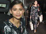 Disney Star Zendaya Coleman seen stepping out in London after Dinning at Cecconi's Restaurant in Mayfair following internet rumours she's dating One Direction Star Zahn Malik. Featuring: Zendaya Coleman Where: London, United Kingdom When: 12 Aug 2015 Credit: WENN.com