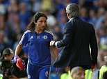 Chelsea's doctor Eva Carneiro appears to have an argument with Jose Mourinho manager of Chelsea    during the Barclays Premier League match between  Chelsea and Swansea  played at Stamford Bridge, London