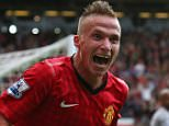 Alexander Buttner of Manchester United celebrates after scoring the third goal during the Barclays Premier League match between Manchester United and Wigan Athletic at Old Trafford on September 15, 2012 in Manchester, England.     MANCHESTER, ENGLAND - SEPTEMBER 15:   (Photo by Alex Livesey/Getty Images)
