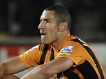 Editorial use only. No merchandising. For Football images FA and Premier League restrictions apply inc. no internet/mobile usage without FAPL license - for details contact Football Dataco.. Mandatory Credit: Photo by Richard Lee/BPI/REX Shutterstock (4315054ak).. Jake Livermore of Hull City is dejected after the final whistle.. Barclays Premier League 2014/15 Hull City v Swansea City KC Stadium, West Park, Hull, United Kingdom - 20 Dec 2014.. ..