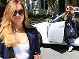 Nanny on fire! Christine Ouzounian testing her brand new car in Los Angeles august 12, 2015/X17online.com