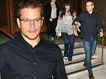 Matt Damon exits from Baltaire restaurant with his wife in Brentwood\n\nPictured: Matt Damon,Lucian Barroso\nRef: SPL1100355  110815  \nPicture by: MONEY$HOT / Splash News\n\nSplash News and Pictures\nLos Angeles: 310-821-2666\nNew York: 212-619-2666\nLondon: 870-934-2666\nphotodesk@splashnews.com\n