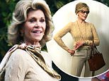 EXCLUSIVE: Jane Fonda filming Grace and Frankie in Malibu, CA. Jane needed assistance leaving the set and appears to be having trouble walking.\n\nPictured: Jane Fonda\nRef: SPL1100238  110815   EXCLUSIVE\nPicture by: Ability Films / Splash News\n\nSplash News and Pictures\nLos Angeles: 310-821-2666\nNew York: 212-619-2666\nLondon: 870-934-2666\nphotodesk@splashnews.com\n