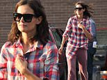 """Katie Holmes seen arriving to the """"All We Had"""" movie set outside a Gas Station in Upstate, New York.\n\nPictured: Katie Holmes\nRef: SPL1100486  120815  \nPicture by: Jose Perez \n\nSplash News and Pictures\nLos Angeles: 310-821-2666\nNew York: 212-619-2666\nLondon: 870-934-2666\nphotodesk@splashnews.com\n"""