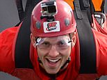 10.08.15 - Wales Rugby Squad Visit Zip World - George North while on a visit to Zip World.