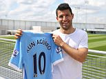 Manchester City FC via Press Association Images MINIMUM FEE 40GBP PER IMAGE - CONTACT PRESS ASSOCIATION IMAGES FOR FURTHER INFORMATION. Manchester City's Sergio Aguero becomes the club's new number 10.
