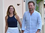 OIC - XCLUSIVEPIX.COM -  Geri Halliwell and Christian Horner seen out shopping St Tropez, France on the 13th August 2015. Photo XclusivePix/OIC 0203 174 1069
