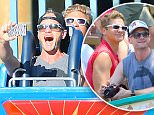 EXCLUSIVE: Neil Patrick Harris and his husband David Burtka ride 'California Screaming' at Disneyland's California Adventure. Neil sat on the front seat with a friend of their's while David sat behind them with their tour guide for the day. \nNeil was very excited to ride the ride which actually includes his own voice  and he took a selfie of himself as the ride took off which he smiled and screamed for.\n\nPictured: Neil Patrick Harris and David Burtka\nRef: SPL1099895  130815   EXCLUSIVE\nPicture by: Fern / Splash News\n\nSplash News and Pictures\nLos Angeles: 310-821-2666\nNew York: 212-619-2666\nLondon: 870-934-2666\nphotodesk@splashnews.com\n