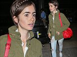 12 Aug 2015 - LOS ANGELES - USA  LILY COLLINS AT LAX   BYLINE MUST READ : XPOSUREPHOTOS.COM  ***UK CLIENTS - PICTURES CONTAINING CHILDREN PLEASE PIXELATE FACE PRIOR TO PUBLICATION ***  **UK CLIENTS MUST CALL PRIOR TO TV OR ONLINE USAGE PLEASE TELEPHONE  44 208 344 2007 ***
