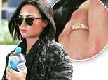 EXCLUSIVE: Demi Lovato continues to spark engagement rumors as she arrives in Los Angeles with a ring her left hand's ring finger.  The adorable singer, songwriter & actress was seen arriving into LAX from Sydney, Australia with carrying a bottle of water.\n\nPictured: Demi Lovato\nRef: SPL1100661  120815   EXCLUSIVE\nPicture by: Sharky / Splash News\n\nSplash News and Pictures\nLos Angeles: 310-821-2666\nNew York: 212-619-2666\nLondon: 870-934-2666\nphotodesk@splashnews.com\n