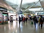 London Stansted Airport - Duty Free Zone.