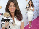 WEST HOLLYWOOD, CA - AUGUST 13:  TV personalities Lisa Vanderpump and Giggy the Pomeranian arrive at a luncheon hosted by Lisa Vanderpump benefiting The American Humane Association and the Hero Dog Awards at Pump on August 13, 2015 in West Hollywood, California.  (Photo by Chelsea Lauren/WireImage)