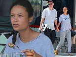 Picture Shows: Ol Parker, Thandie Newton  August 11, 2015    'Westworld' actress Thandie Newton and her husband Ol Parker spotted out for lunch at Little Dom's in Los Feliz, California. The pair were all smiles as they held hands while leaving the restaurant.     Exclusive All Rounder  UK RIGHTS ONLY  FameFlynet UK � 2015  Tel : +44 (0)20 3551 5049  Email : info@fameflynet.uk.com
