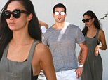 Cara Santana and Jesse Metcalfe were spotted hanging out in Beverly Hills.  Cara wore a long olive dress, with silver shoes, while Jesse went with white pants and a thin gray top.  Thursday, August 13, 2015 X17online.com