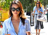Jamie Chung Leaves Clover Juice in West Hollywood  Pictured: Jamie Chung Ref: SPL1100381  120815   Picture by: All Access Photo Group  Splash News and Pictures Los Angeles: 310-821-2666 New York: 212-619-2666 London: 870-934-2666 photodesk@splashnews.com