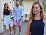 OIC - XCLUSIVEPIX.COM - \nGeri Halliwell and Christian Horner seen out shopping St Tropez, France on the 13th August 2015. Photo XclusivePix/OIC 0203 174 1069