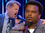 LOS ANGELES, CA ¿ August 13, 2015: The Late Late Show with James Corden\n\nActors Neil Patrick Harris and Craig Robinson visit with James.\nOnce Craig Ferguson retired, James Corden has taken over The Late Late Show. The show is a late night talk show that interviews celebrities and has its own bits. And of course, it's all hosted by James Corden. s \n