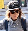 Out and about: Ellen Page seemed happy and relaxed during an evening stroll with friends in New York City on Tuesday.