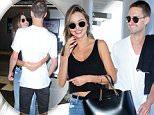 Topmodel Miranda Kerr and Snapchat billionaire Evan Spiegel leaving to Europe for a romantic trip august 12, 2015 /X17online.com