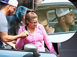 """UK CLIENTS MUST CREDIT: AKM-GSI ONLY\nEXCLUSIVE: **SHOT ON 8/11/15** Beverly Hills, CA - Lisa Vanderpump's rebel Jax Taylor seen helping what he Tweeted as """"My Girl"""" out of surgery. Could this kind of gesture be a way to wash out his recent add on to the bad boy reputation? Vanderpump Rules star Jax Taylor made numerous headlines last month when he was arrested for allegedly stealing a pair of sunglasses in Hawaii worth enough to get him charged with felony theft. But despite the attention garnered by the story (and the security camera footage), it seems the thing fans (and detractors) of Jax are most interested in is his new girlfriend, Brittany Cartwright, a 26-year-old aspiring model and former Hooters waitress from Kentucky.\n\nPictured: Jax Taylor and Brittany Cartwright\nRef: SPL1101852  130815   EXCLUSIVE\nPicture by: AKM-GSI / Splash News\n\n"""