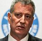 NEW YORK, NY - AUGUST 13:  New York City Mayor Bill de Blasio speaks at a press conference updating the public on the Legionnaires' outbreak in the Bronx at Lincoln Hospital on August 13, 2015 in the Bronx borough of New York City. The mayor said that while new cases of Legionnaires' may appear, the outbreak has been contained and that the water cooling towers the New York City Department of Health believe are responsible for the outbreak have been decontaminated.  (Photo by Andrew Burton/Getty Images)